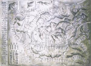 江戸時代の秋葉山参詣道程図